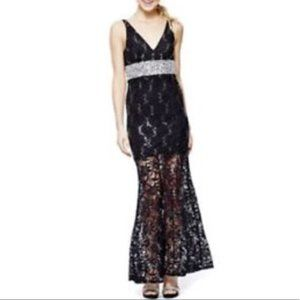 My Michelle Black Lace beads sequins Prom Dress 5